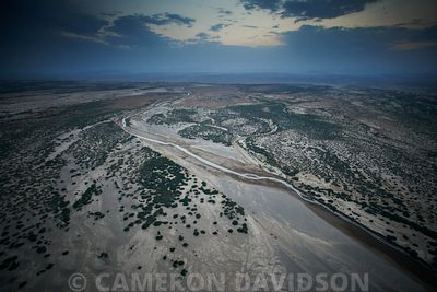 Aerial photograph of the Ethiopian landscape near Gheralta.