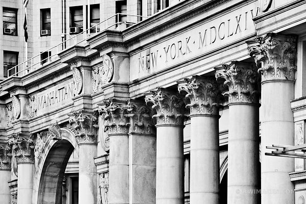 NEW YORK CITY HALL BLACK AND WHITE