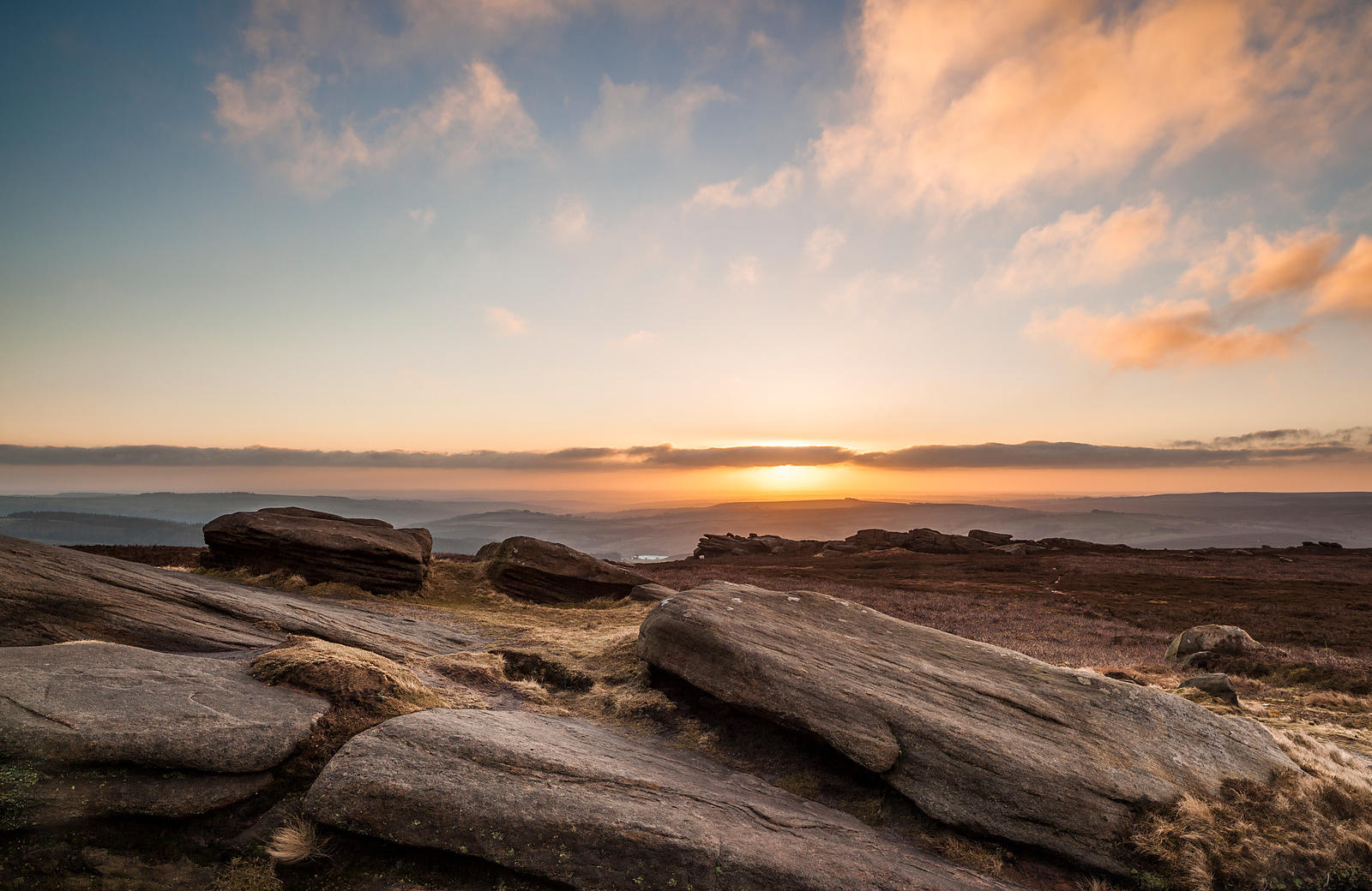 Sunrise on Derwent Edge