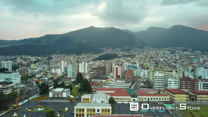 Sprawling view of Quito Ecuador