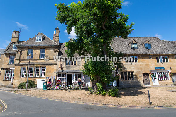 Chipping Campden High street during summer. Gloucestershire, UK.