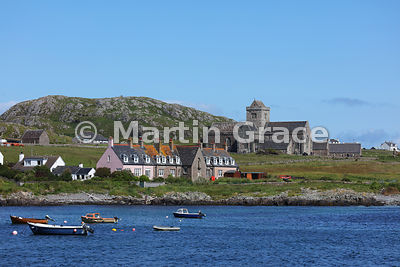 Part of Baile Mor and Iona Abbey from the Sound of Iona, Inner Hebrides, Scotland