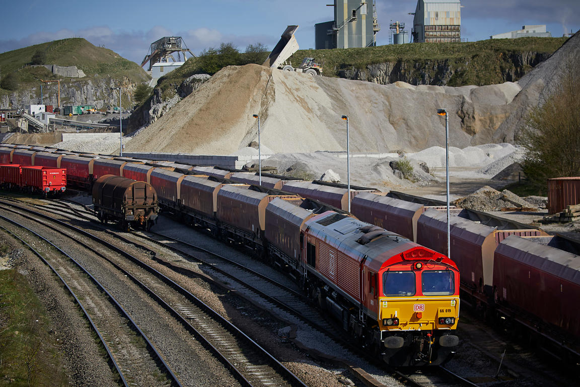 Trains at Cemex Quarry