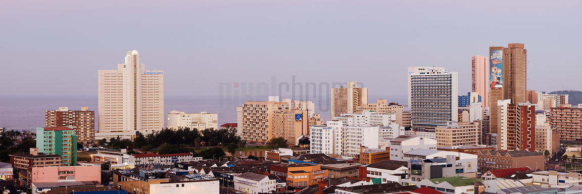 Skyline of the City of Durban looking towards the Beachfront Hotels