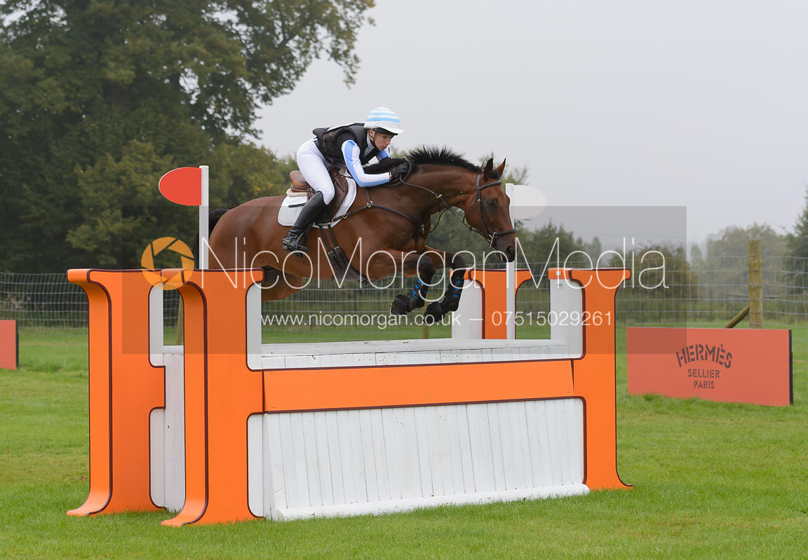 Megan Heath and ST DANIEL - cross country phase,  Land Rover Burghley Horse Trials, 6th September 2014.