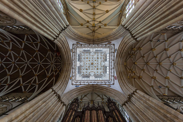 Detailed View of the Ceiling of York Minster