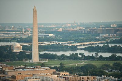 Aerial photograph of the Washington Monument in Washington DC