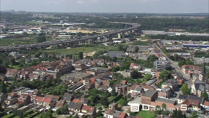 Flying over a flyover in Vilvoorde, Belgium