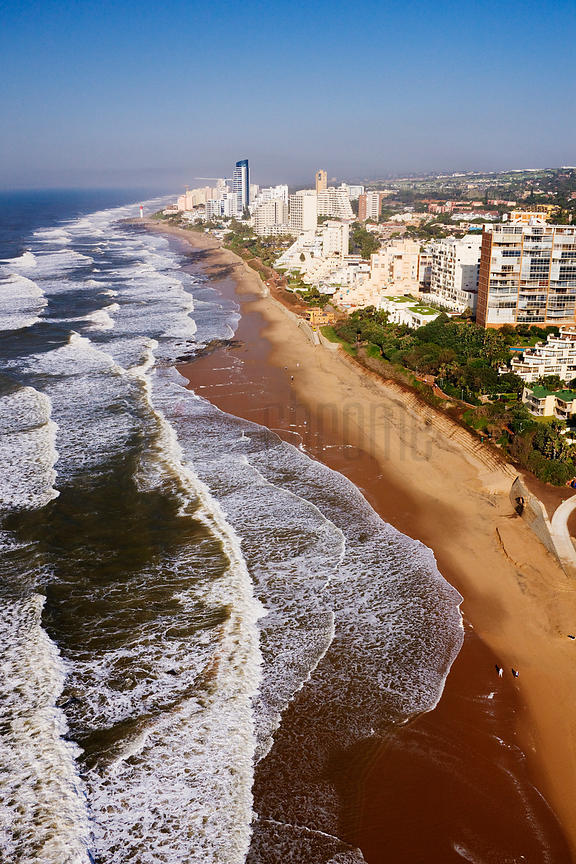 Aerial View of Beachfront at Umhlanga Rocks