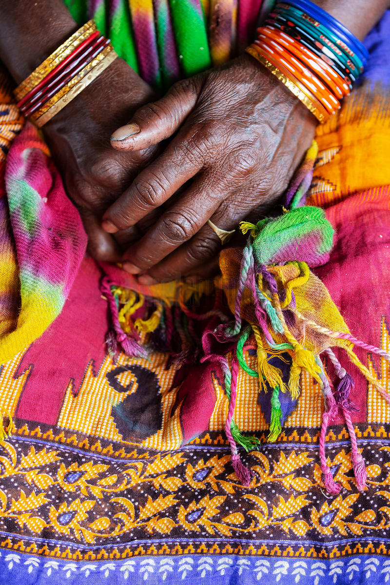 Detail of a Paraja Woman's Dress and Hands