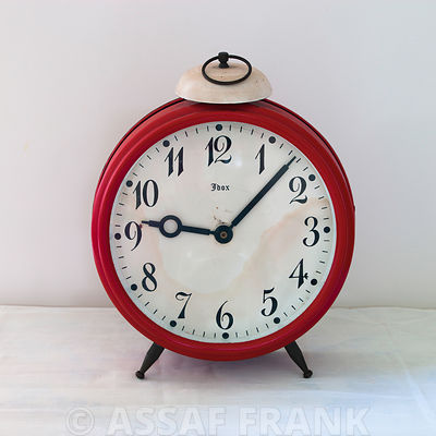 Old-fashioned metal clock