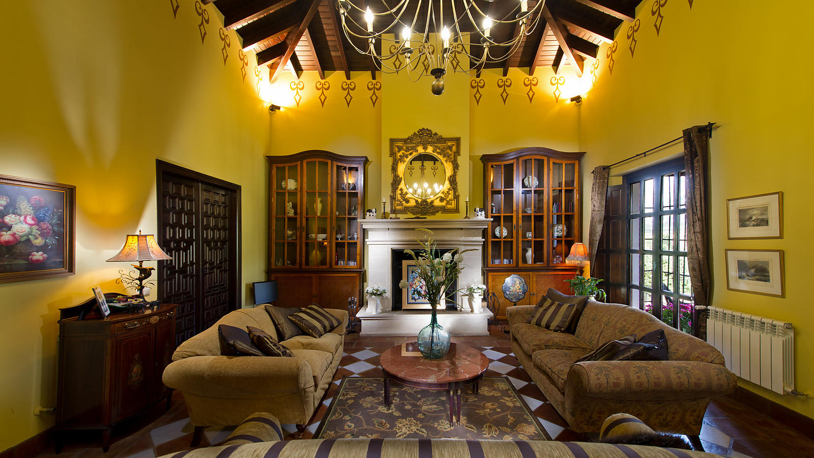 Luxury Villa Hotel Lounge Interior in Andalucia, Spain