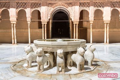 Court of the Lions, Alhambra palace, Granada, Spain