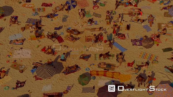 Top shot of a crowded beach