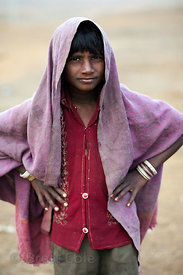 A boy in Pushkar, Rajasthan, India