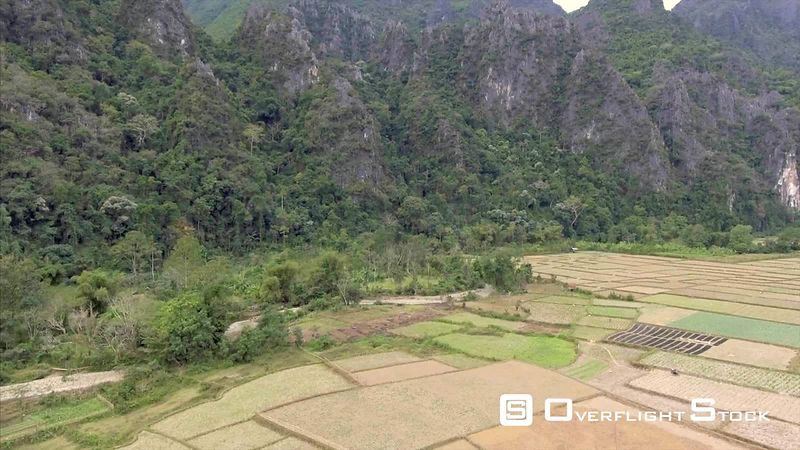 Farming area Outside of Village of Vang Vieng Laos