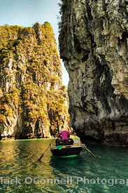 Rowing through Halong Bay Vietnam 2
