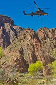 Helicopter Airdrop At Phantom Ranch 2 -Grand Canyon