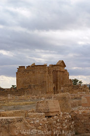 A view of the main temples from the St Vitalis Church, Sbietla Tunisia; Portrait