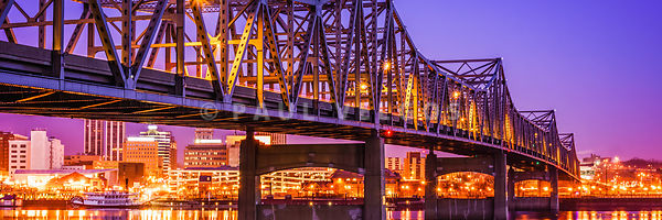 Peoria Illinois Bridge Panoramic Picture