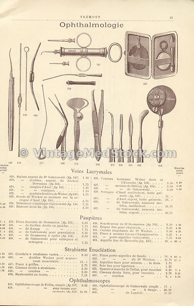 French catalog of medical supplies