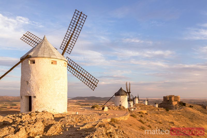 Famous windmills of Consuegra, Don Quixote route, Spain