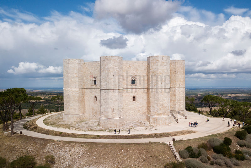 Elevated View of Castel del Monte
