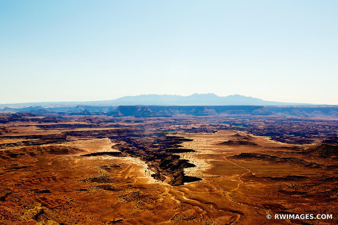 EARTH CHASM GRAND VIEW POINT OVERLOOK CANYONLANDS NATIONAL PARK UTAH COLOR HORIZONTAL