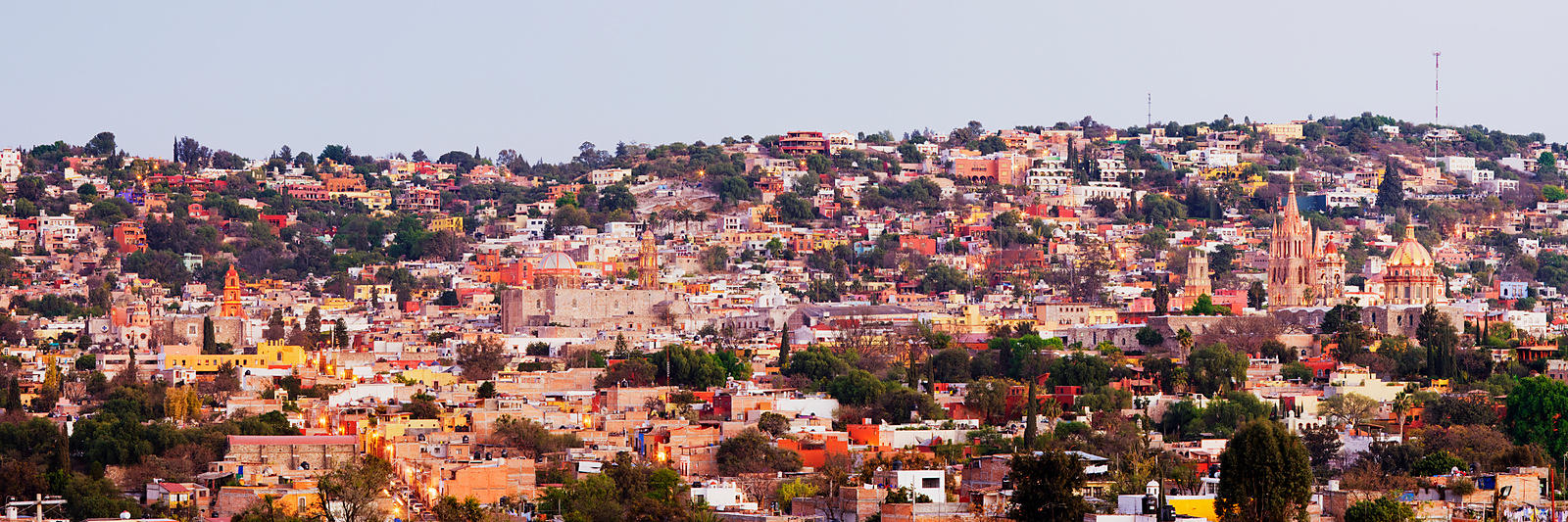 Skyline of San Miguel de Allende at Dusk