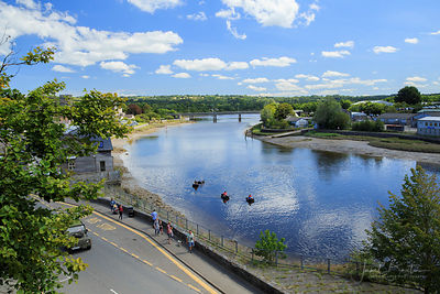 River Teifi from Cardigan Castle walls