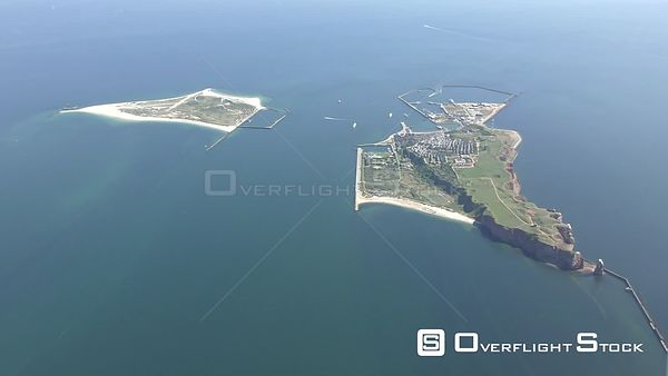 Coastal area of ​​the North Sea - Helgoland island with the Lummenfelsen in the state of Schleswig-Holstein