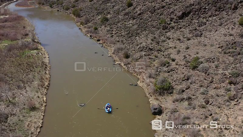 Rafting down the Rio Grande River near Carson, New Mexico