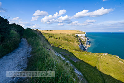 The White Cliffs of Dover, Kent, England, UK.