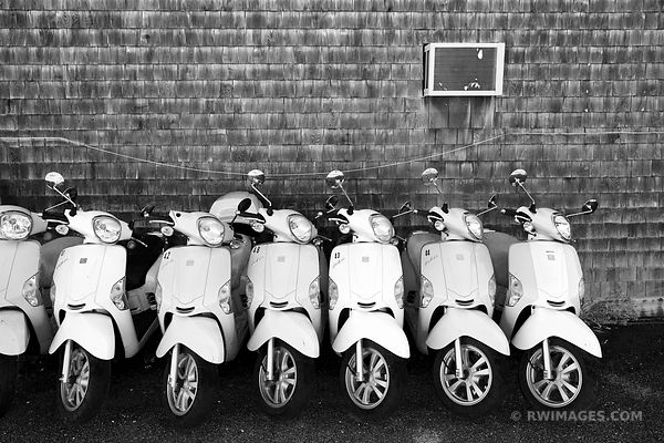 MOPEDS MARTHA'S VINEYARD BLACK AND WHITE