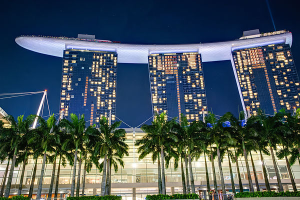 Marina Bay Sands at Twilight, Singapore
