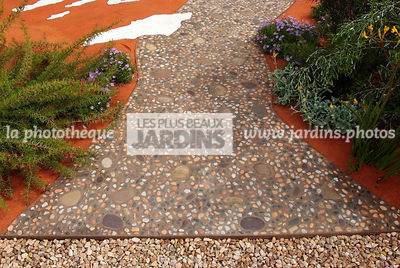 Australian garden, Dry garden, Gravel, Pavement, Digital