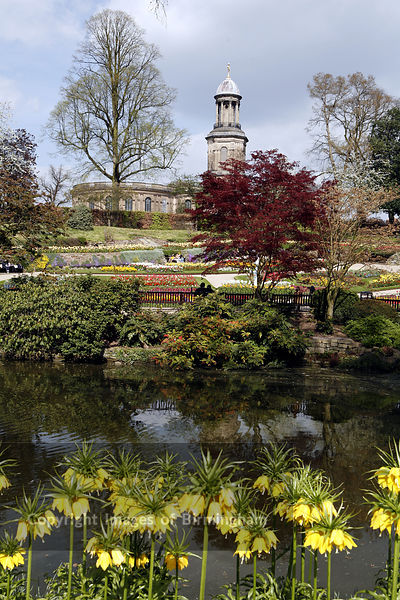 The Quarry Park in Shrewsbury.  Hosts of the Shrewsbury flower show.  Pictured is The Dingle sunken garden. Shropshire, UK.