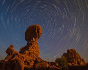 Balanced Rock Star Trails