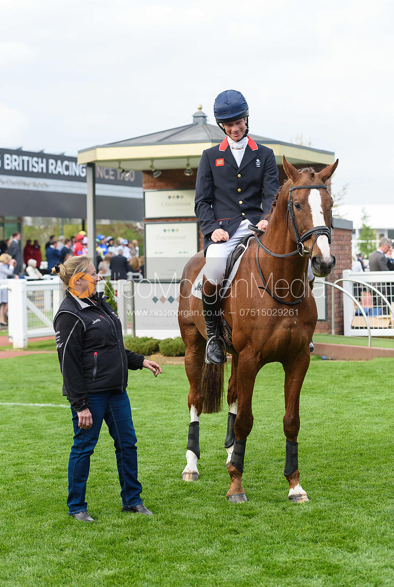 Jackie Potts, William Fox-Pitt (CHILLI MORNING) - Champions Willberry Charity Flat Race - Cheltenham Racecourse, April 20th 2017