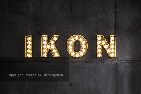 The Ikon Gallery sign, Brindleyplace, Birmingham