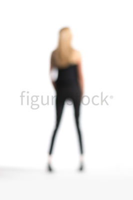 A Figurestock abstract image of a standing blonde woman – shot from mid level.