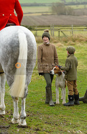 At the Belvoir Hunt meet at Mount Pleasant