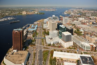 Aerial photograph of Norfolk, Virginia