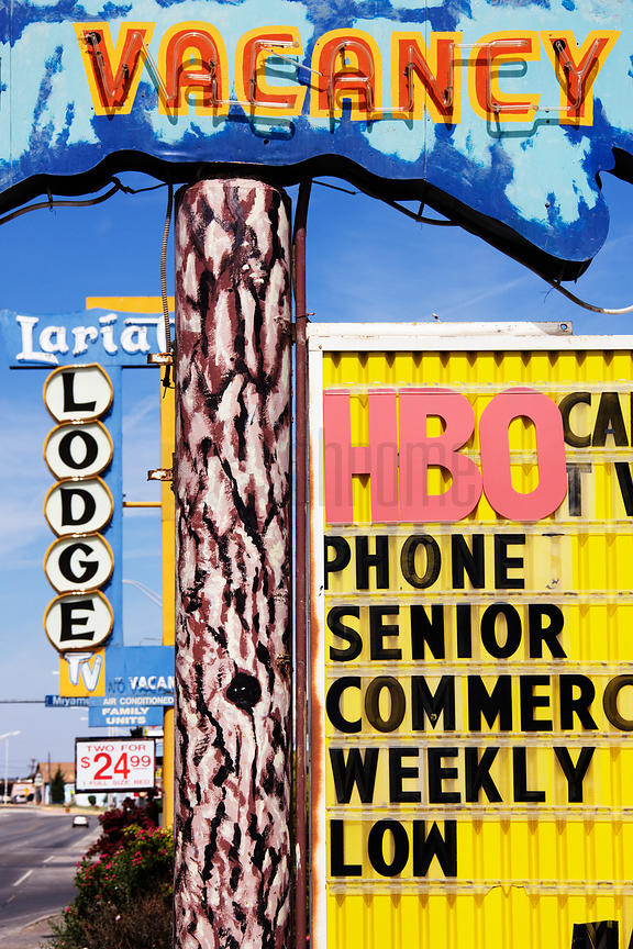 Motel Signs in Gallup New Mexico