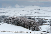 Wensleydale in the aftermath of a very heavy snow shower, near Hawes, UK.