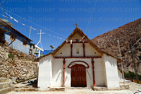 Rustic church in village of Chitita, Region XV, Chile