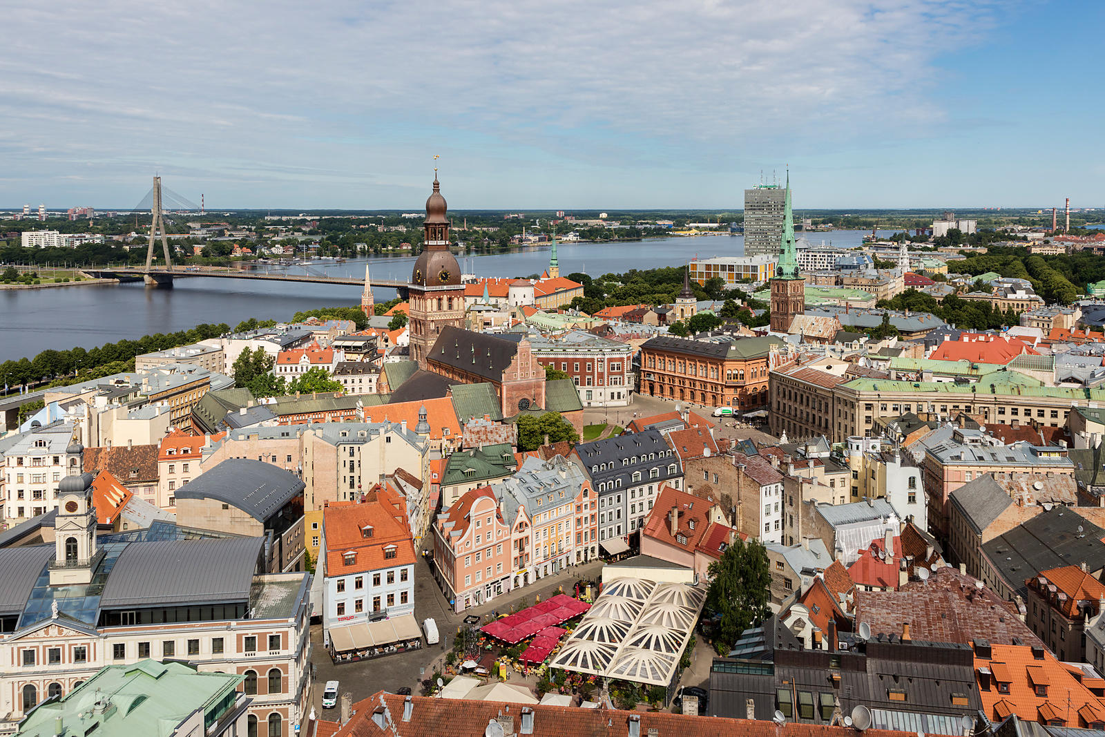 Elevated View of Riga from St Peter's Church