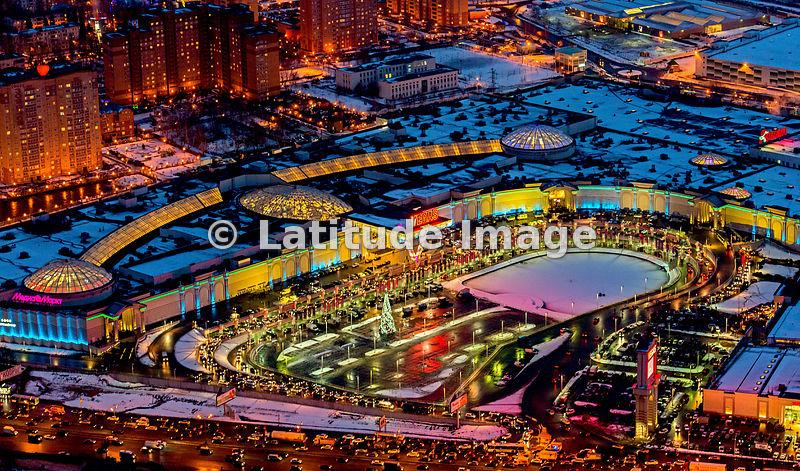 latitude image moscow russia vegas shopping mall on kashirskoe shocce aerial photo 2