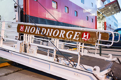 Passenger Walkway of the Hurtigruten Nordnorge ship