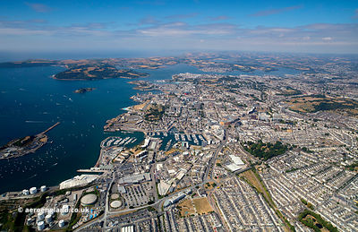 Plymouth England from the air